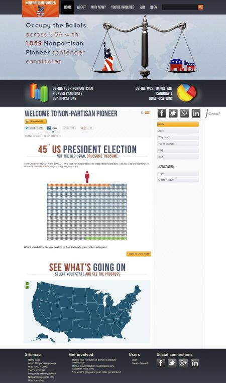 Nonpartisan pioneer website